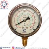 مانومتر گاز فریون دراگون DRAGON عمودی روغنی low 215 psi