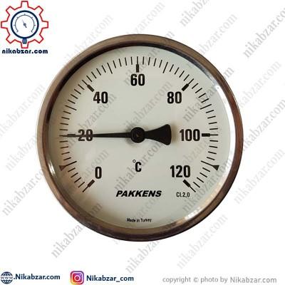 ترمومتر پکنز PAKKENS صفحه 10 سانت افقی 120 درجه