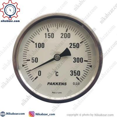 ترمومتر پکنز PAKKENS صفحه 10 سانت افقی 350 درجه