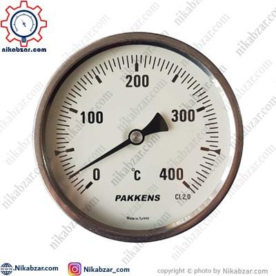 ترمومتر پکنز PAKKENS صفحه 10 سانت افقی 400 درجه