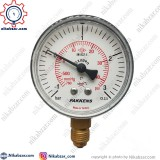 مانومتر خلاء فشار پکنز PAKKENS صفحه 6 سانت عمودی خشک 1- تا 3+ بار