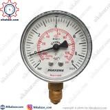 مانومتر خلاء فشار پکنز PAKKENS صفحه 6 سانت عمودی خشک 1- تا 9+ بار