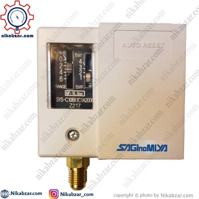 پرشرسوئیچ ساگی نو میا SAGINOMIYA مدل SYS-C106X