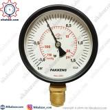 مانومتر خلاء فشار پکنز PAKKENS صفحه 10 سانت عمودی خشک 1- تا 1.5+ بار