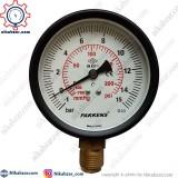 مانومتر خلاء فشار پکنز PAKKENS صفحه 10 سانت عمودی خشک 1- تا 15+ بار
